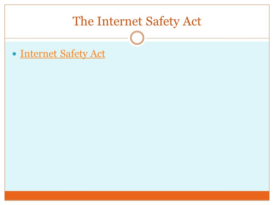 The Internet Safety Act