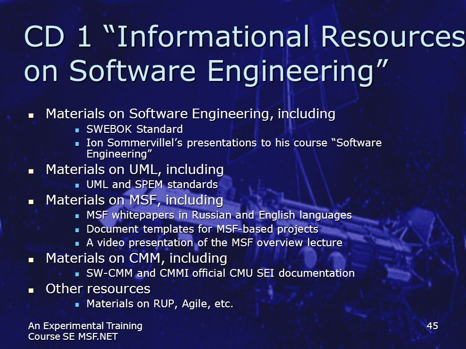 CD 1 Informational Resources on Software Engineering