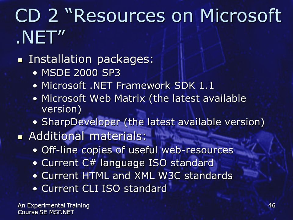 CD 2 Resources on Microsoft .NET