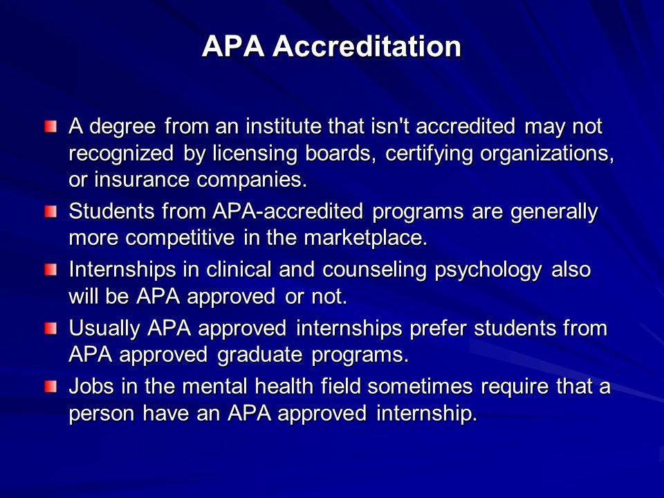 APA Accreditation