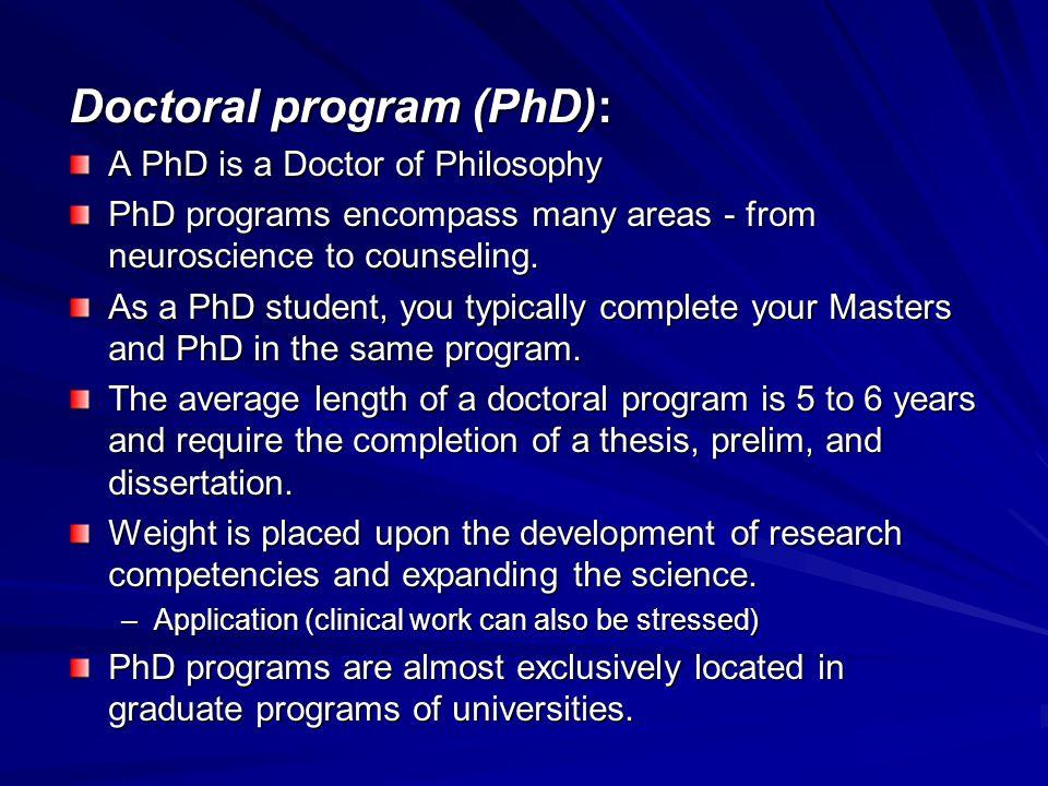 Doctoral program (PhD):