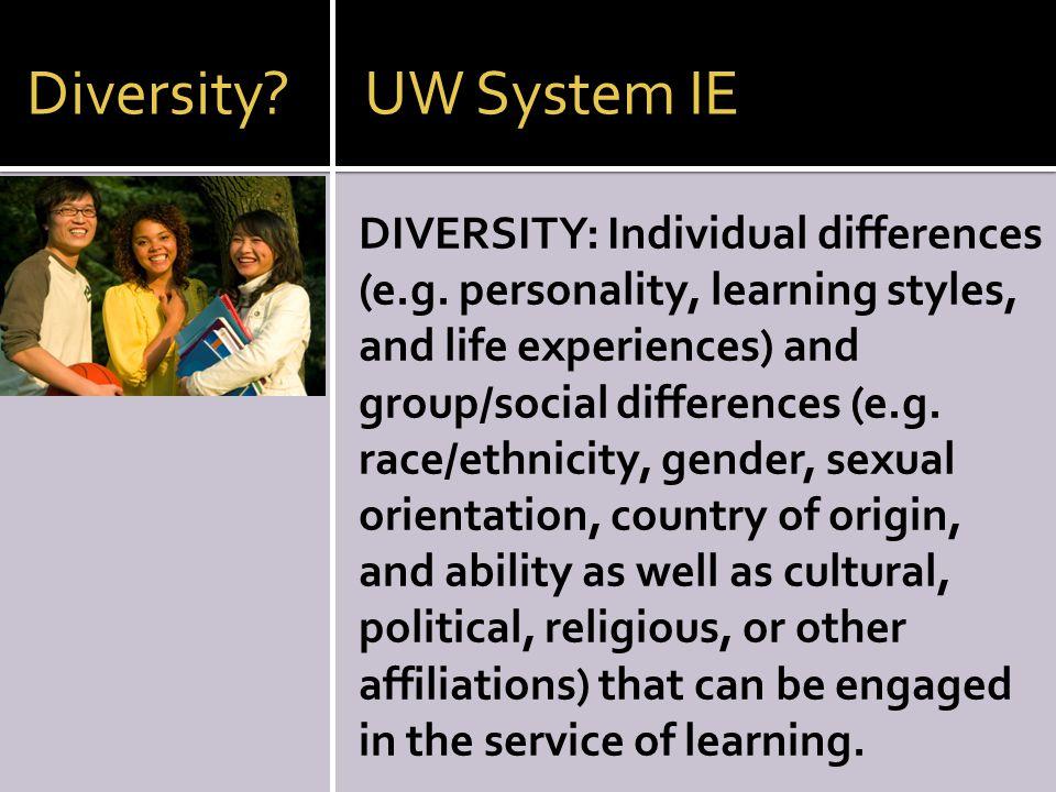 Diversity UW System IE
