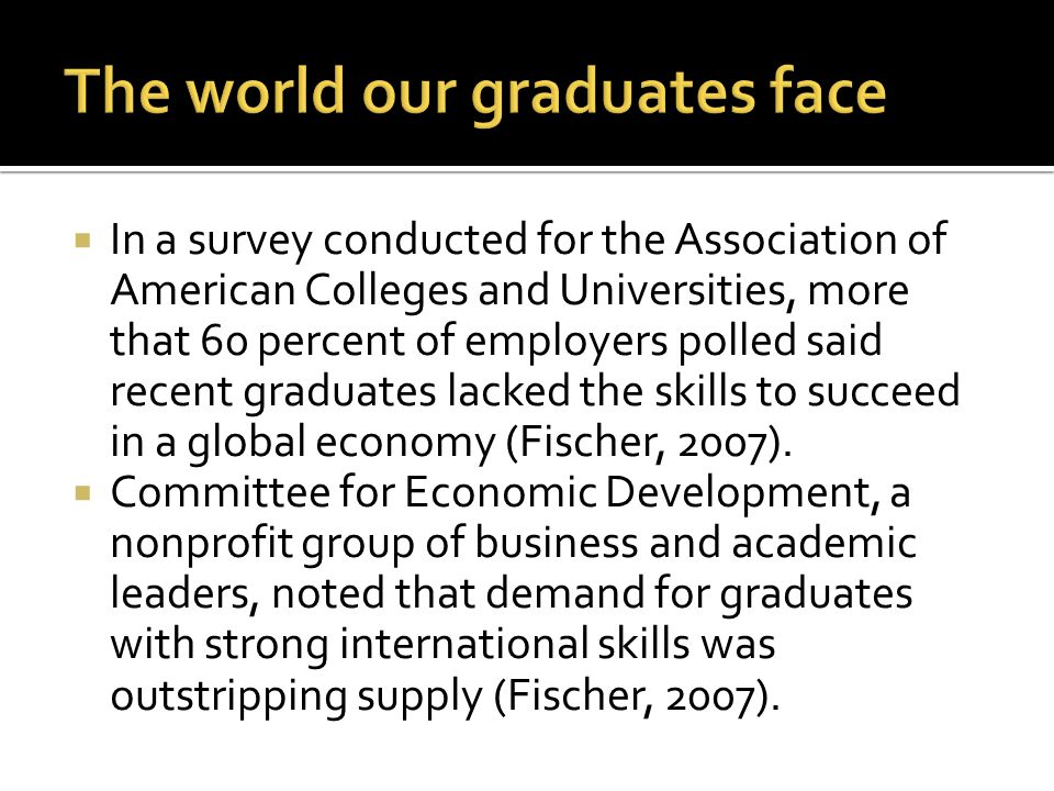 The world our graduates face