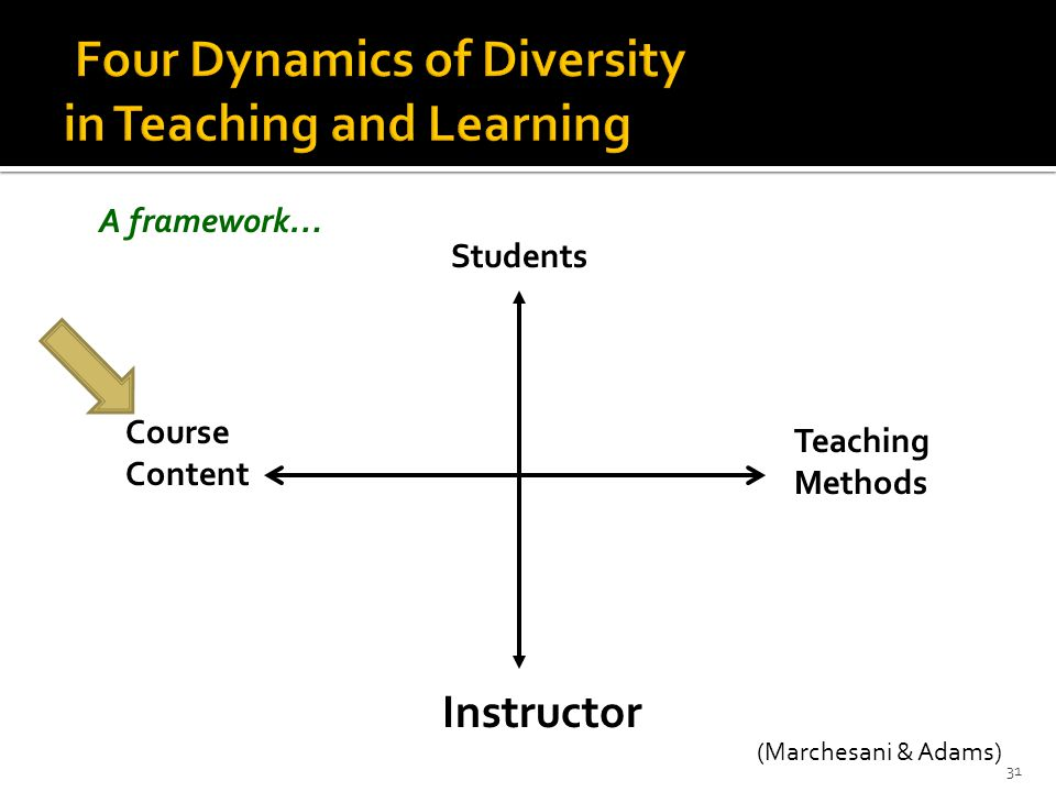 Four Dynamics of Diversity in Teaching and Learning