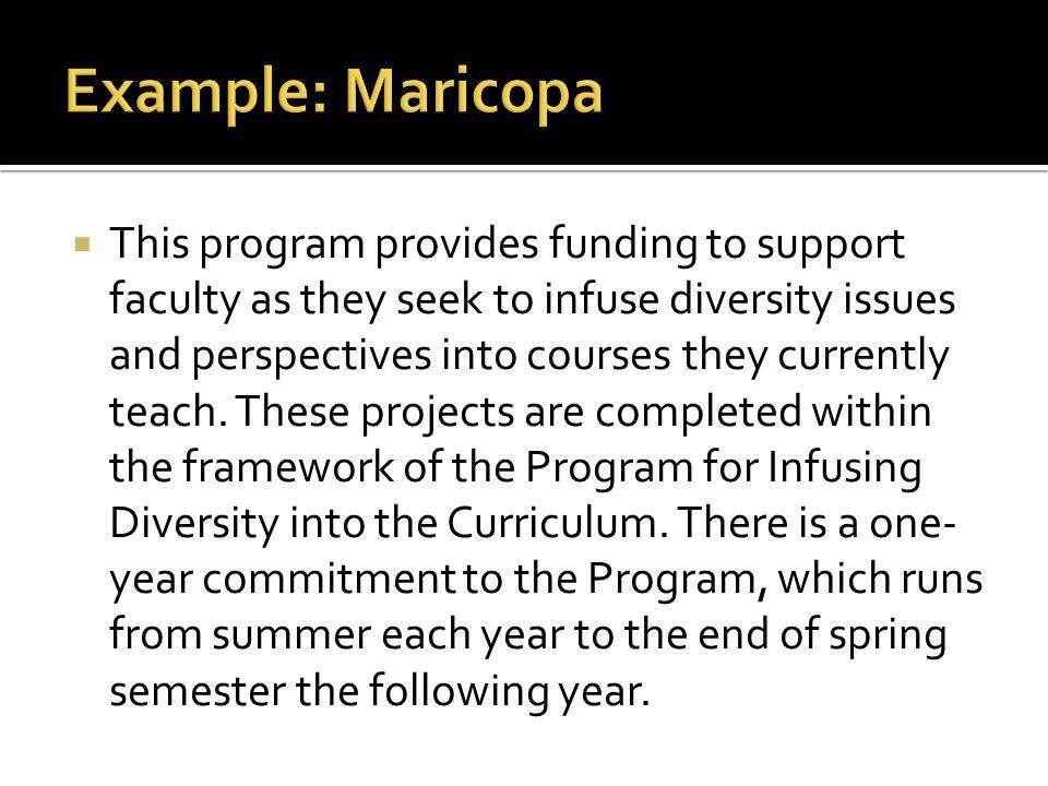 Example: Maricopa