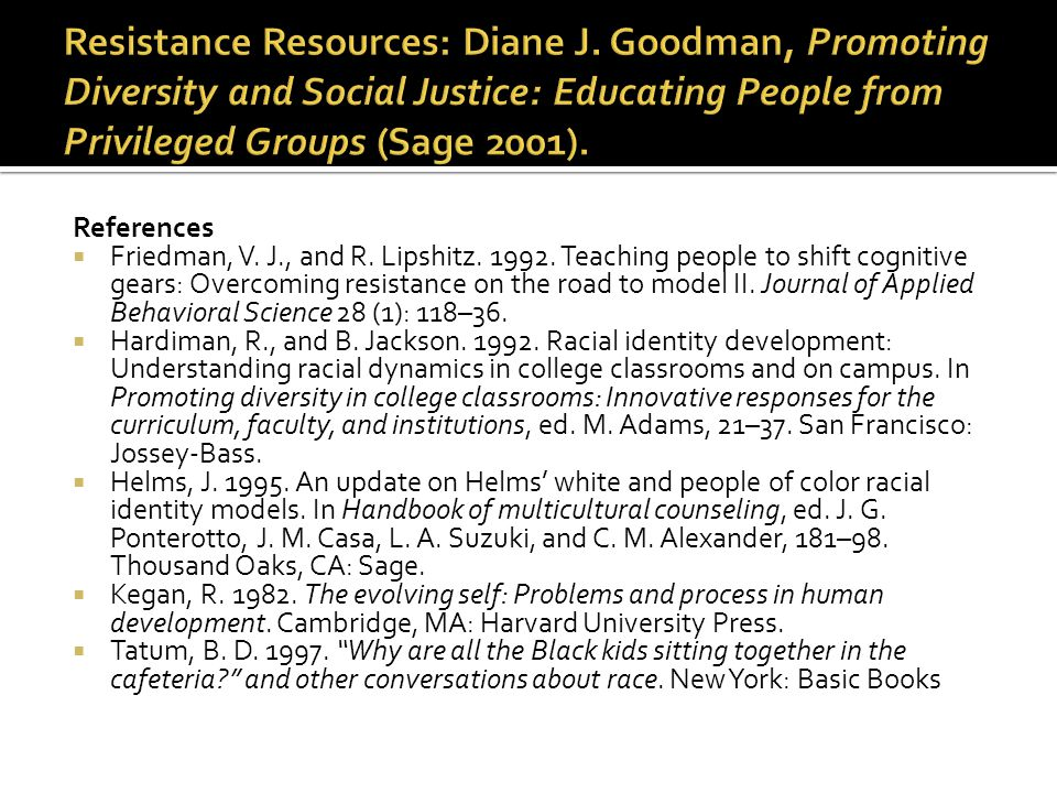 Resistance Resources: Diane J