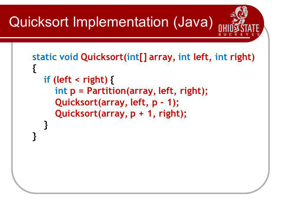 Quicksort Implementation (Java)