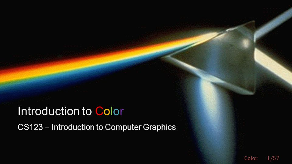 CS123 – Introduction to Computer Graphics