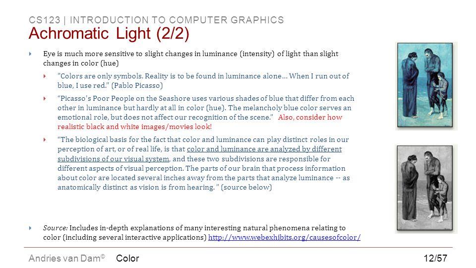 Achromatic Light (2/2) Color