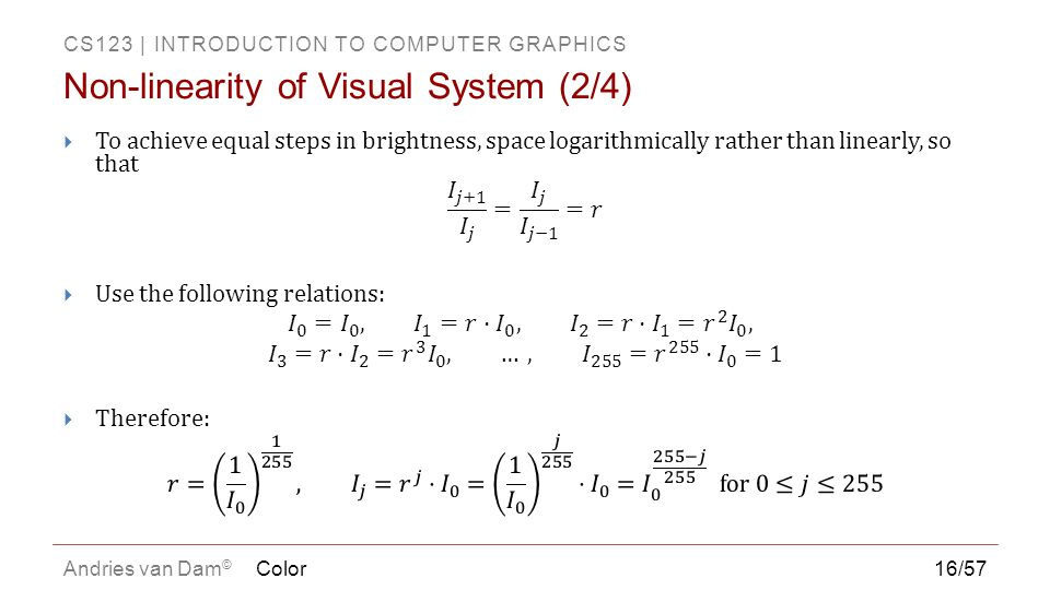 Non-linearity of Visual System (2/4)