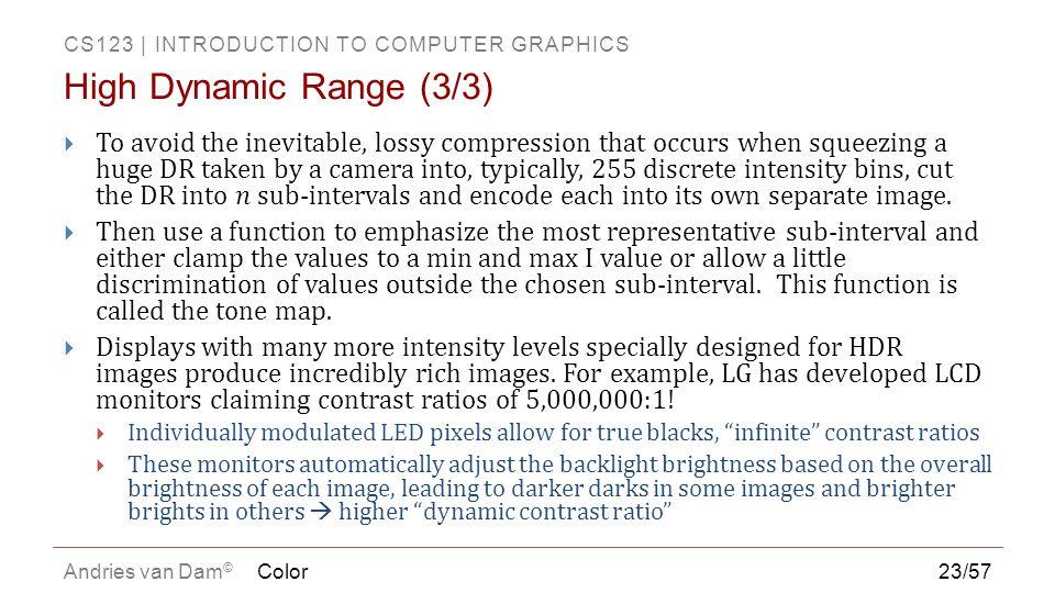 High Dynamic Range (3/3)