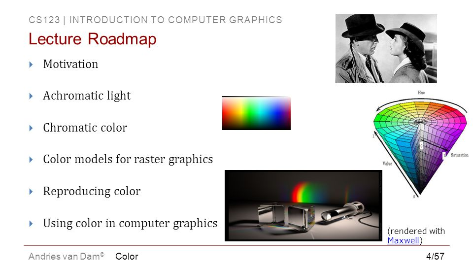 Lecture Roadmap Motivation Achromatic light Chromatic color