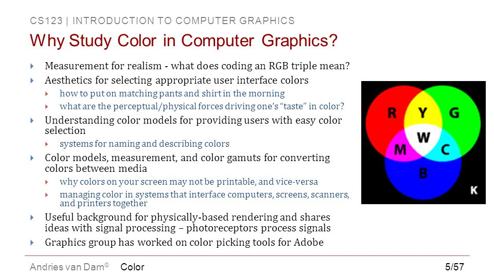 Why Study Color in Computer Graphics