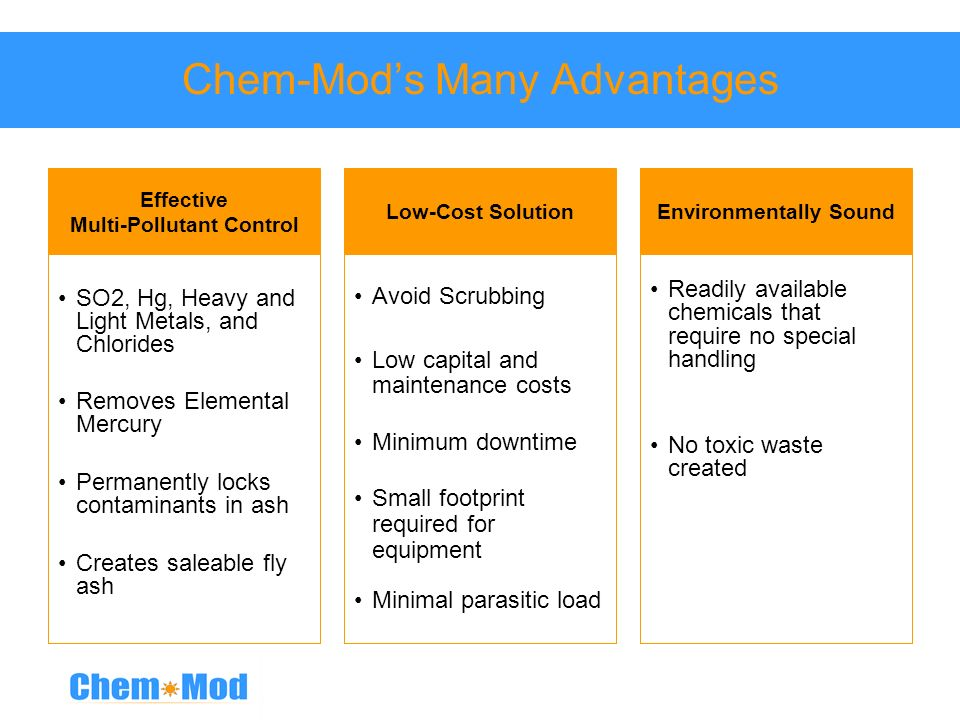 Chem-Mod's Many Advantages