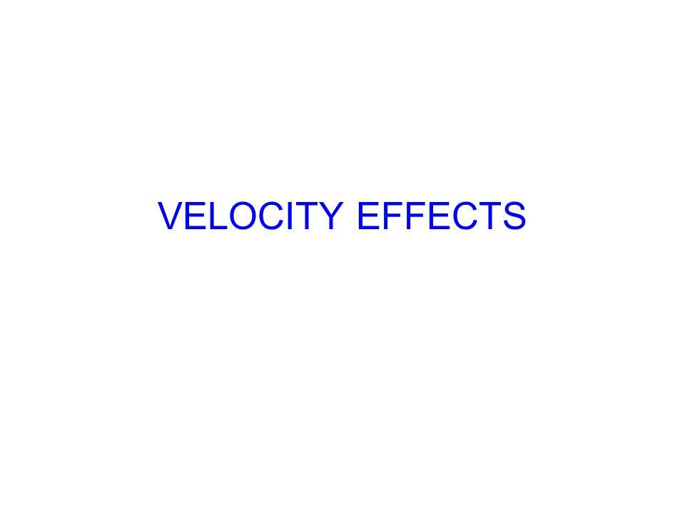 VELOCITY EFFECTS