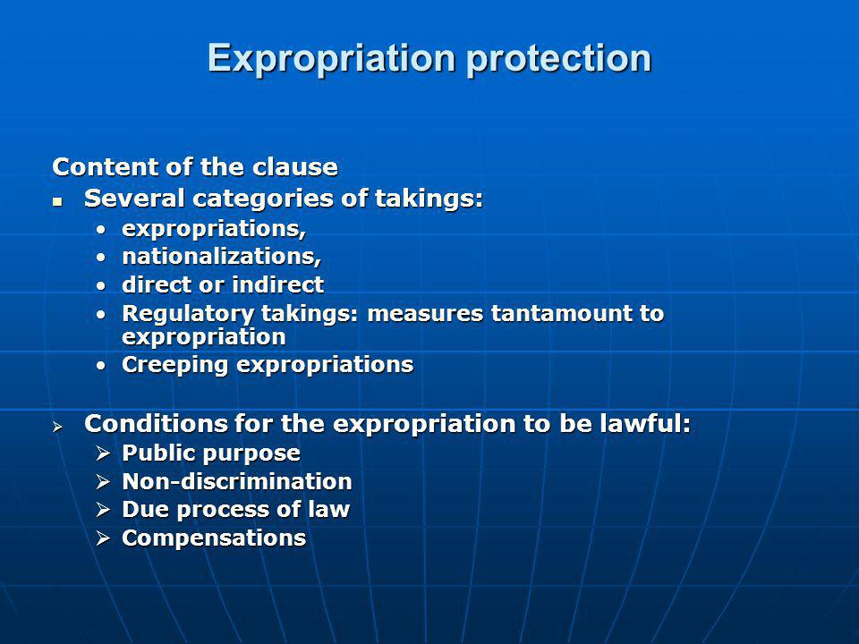 Expropriation protection