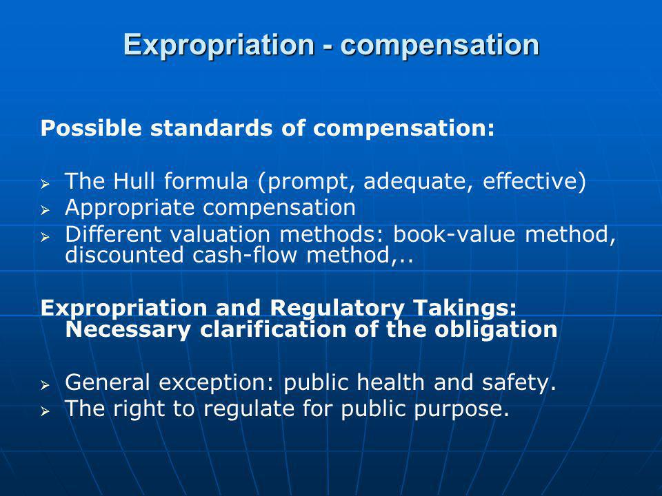 Expropriation - compensation