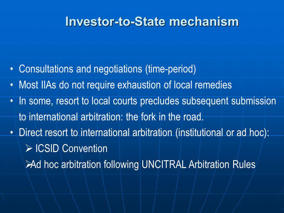 Investor-to-State mechanism