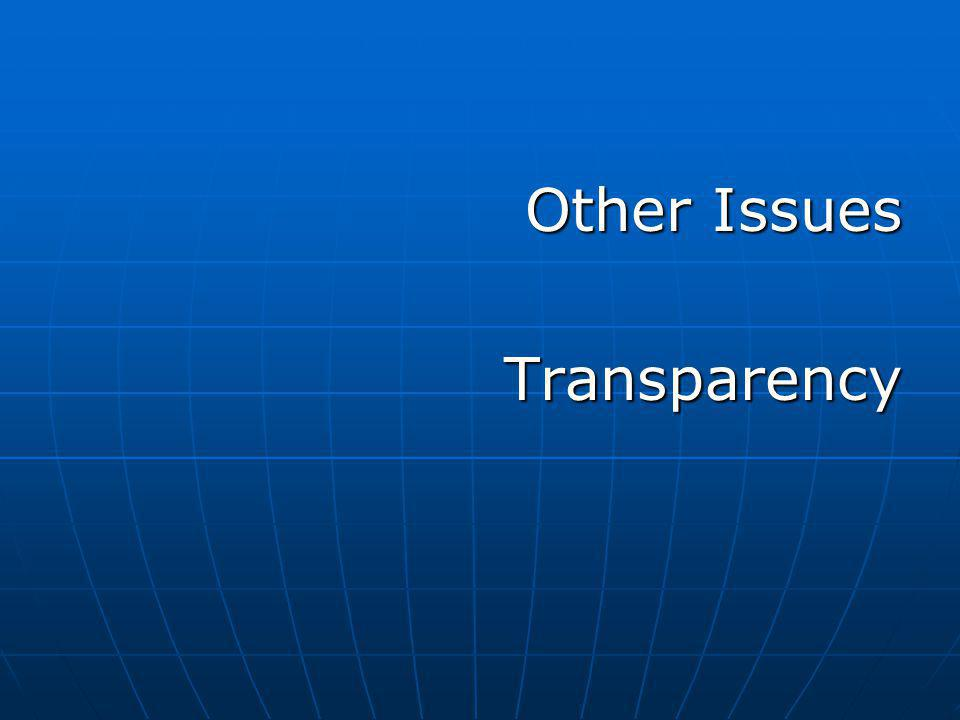 Other Issues Transparency