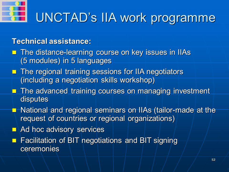 UNCTAD's IIA work programme