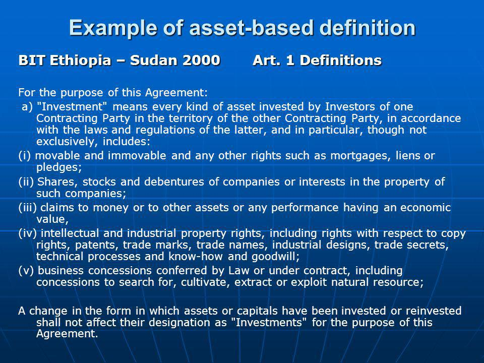 Example of asset-based definition