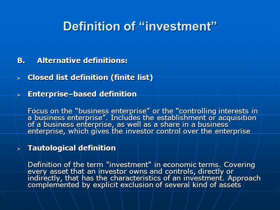 Business Investment Agreements Business Environment Important Facts
