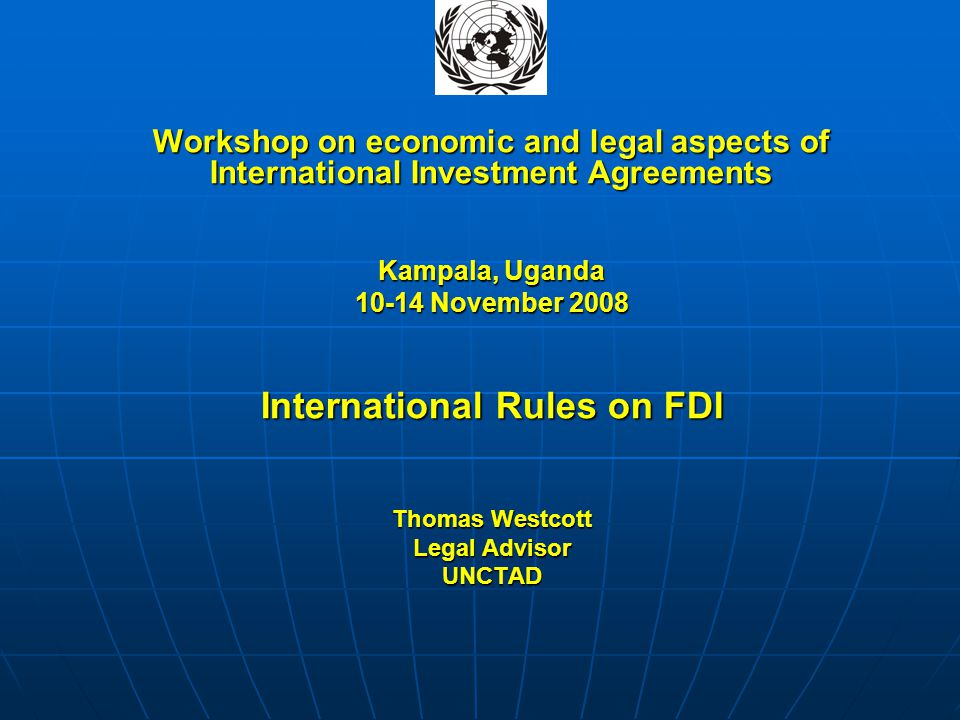 International Rules on FDI