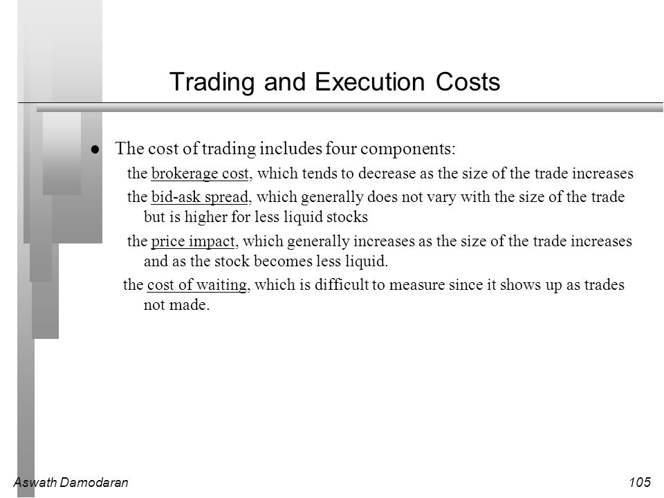 Trading and Execution Costs