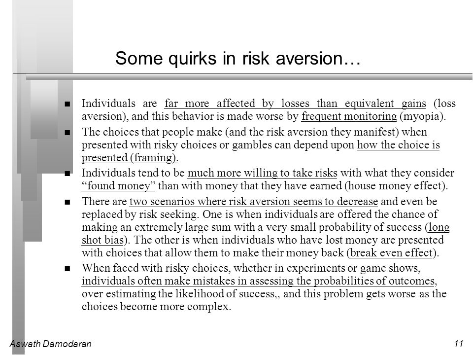 Some quirks in risk aversion…