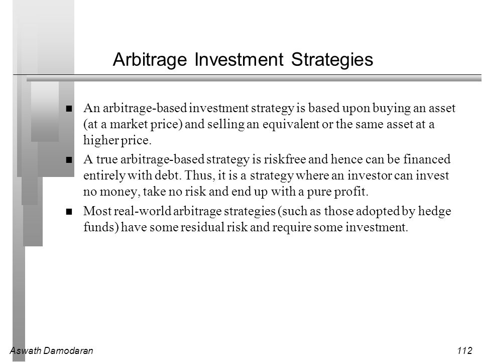 Arbitrage Investment Strategies