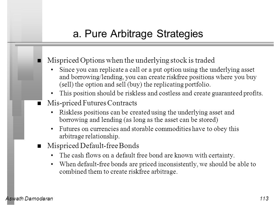 a. Pure Arbitrage Strategies