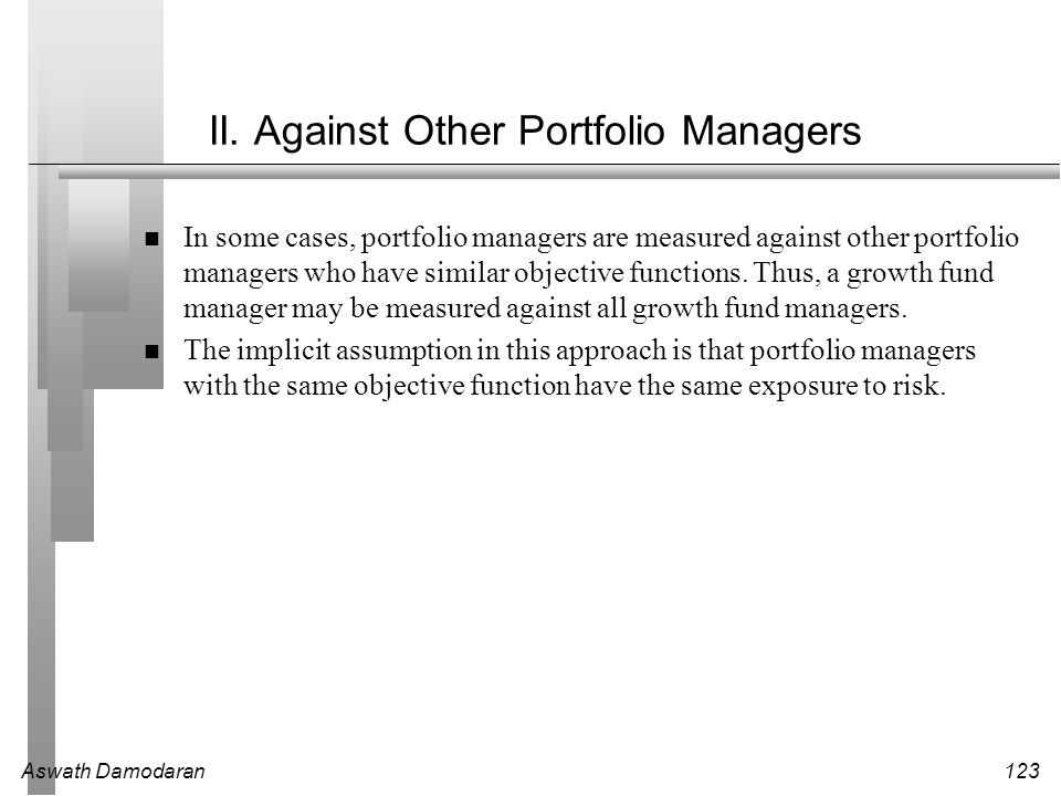 II. Against Other Portfolio Managers