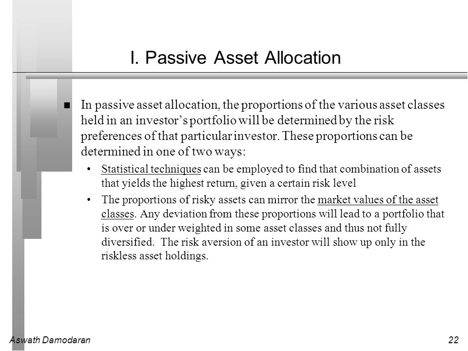I. Passive Asset Allocation