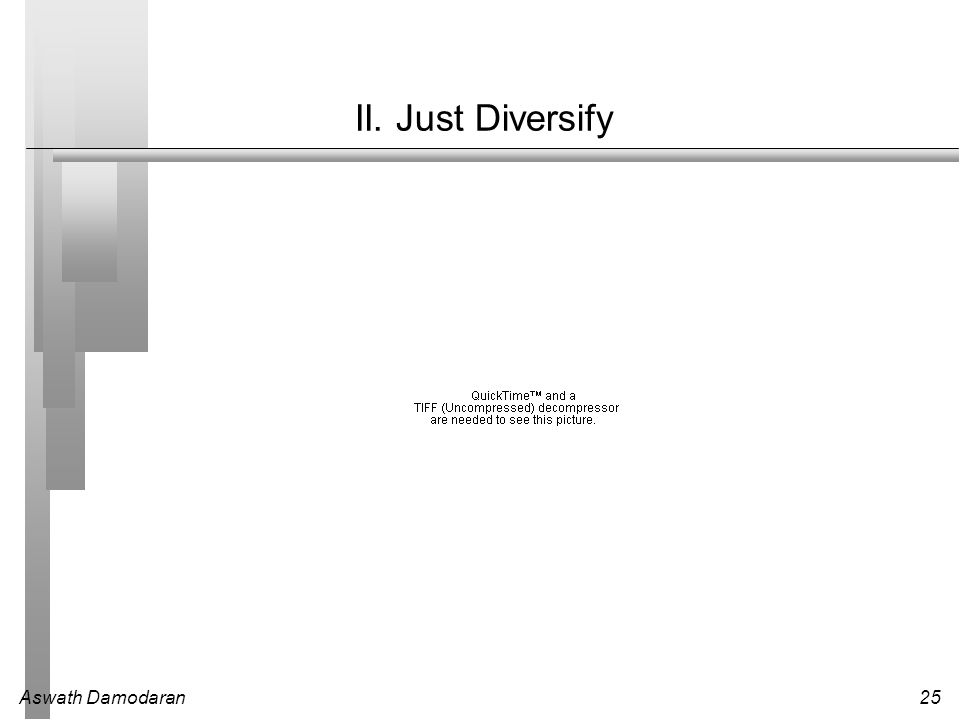II. Just Diversify