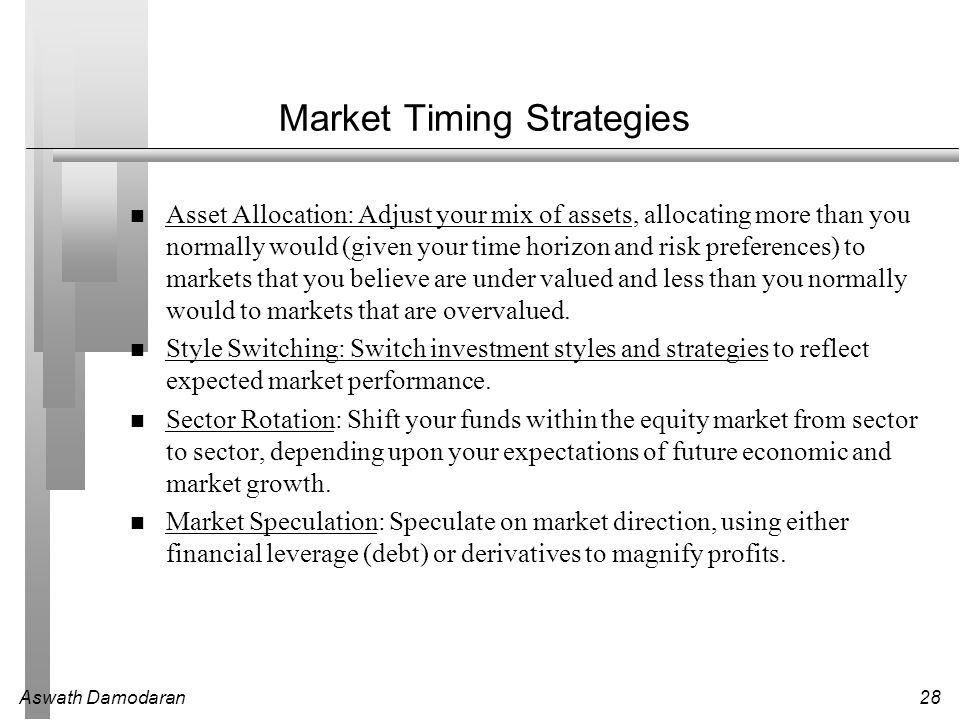 Market Timing Strategies