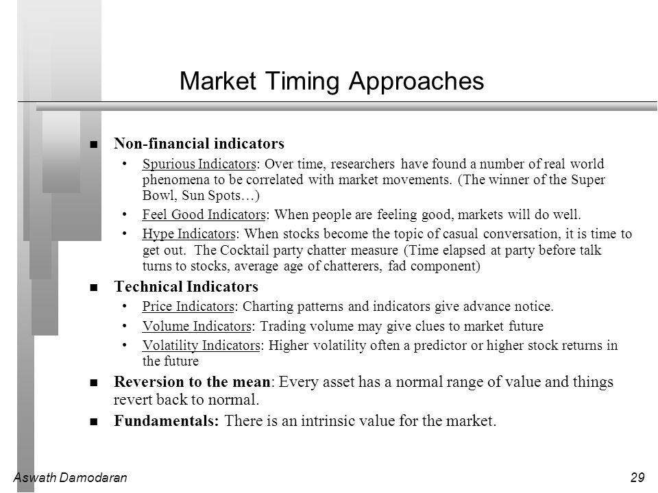 Market Timing Approaches