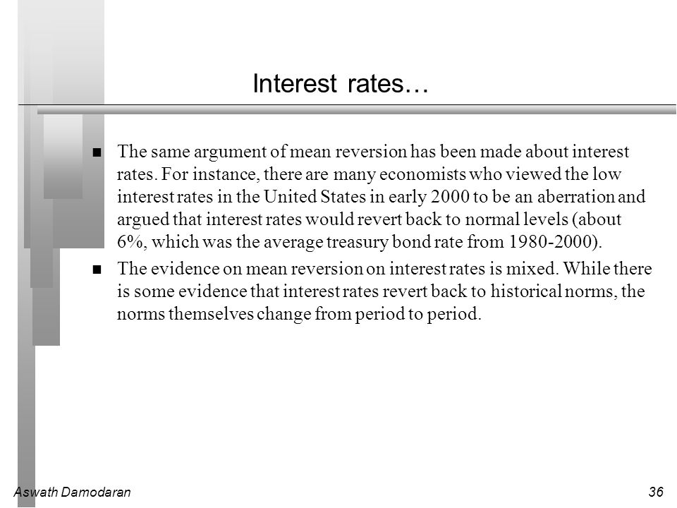Interest rates…