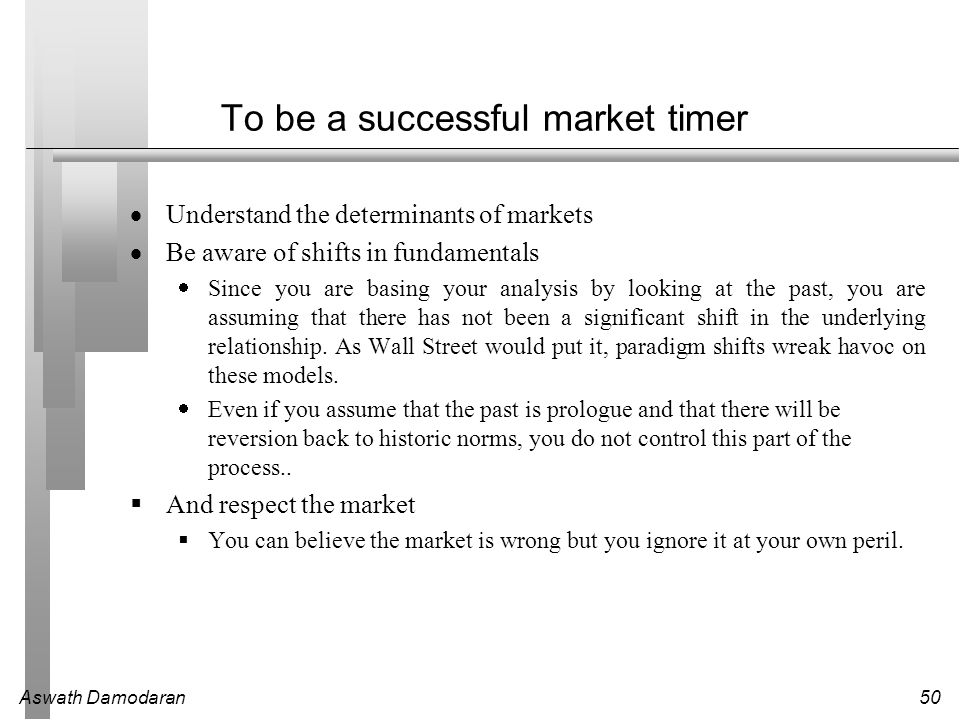 To be a successful market timer