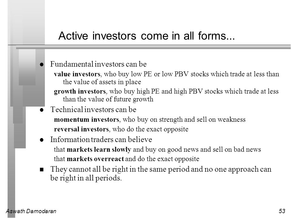 Active investors come in all forms...