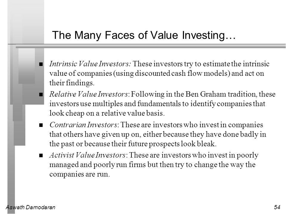 The Many Faces of Value Investing…