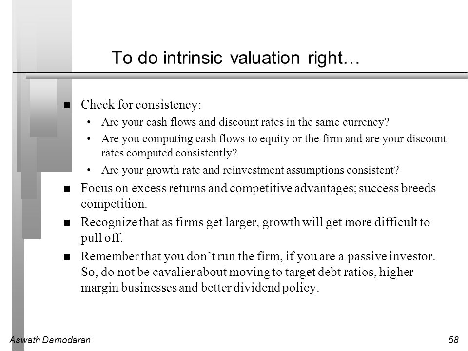 To do intrinsic valuation right…