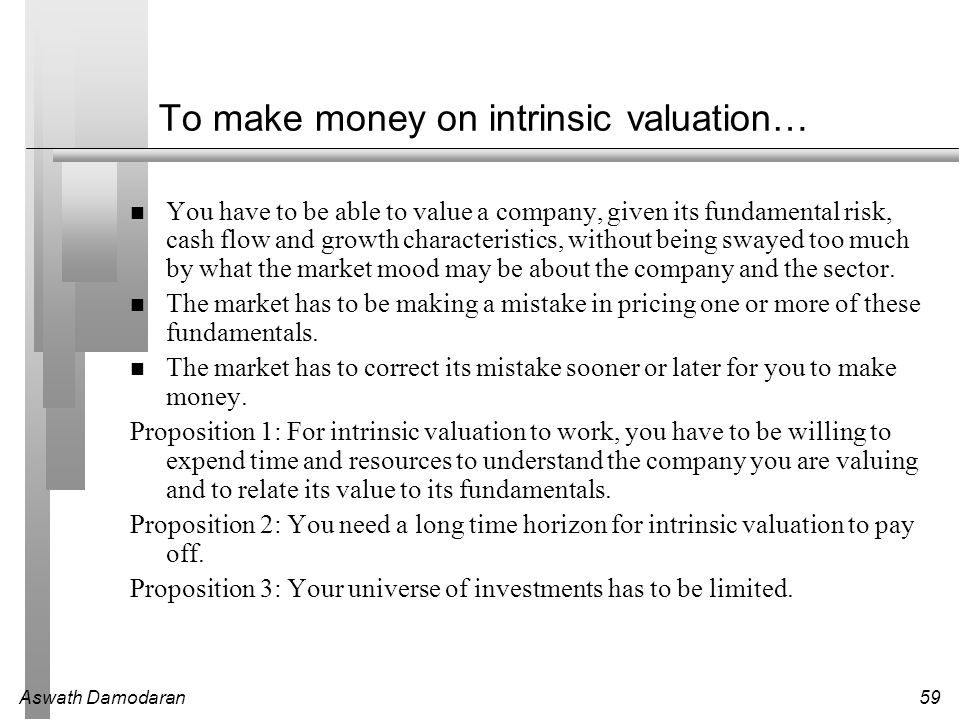 To make money on intrinsic valuation…