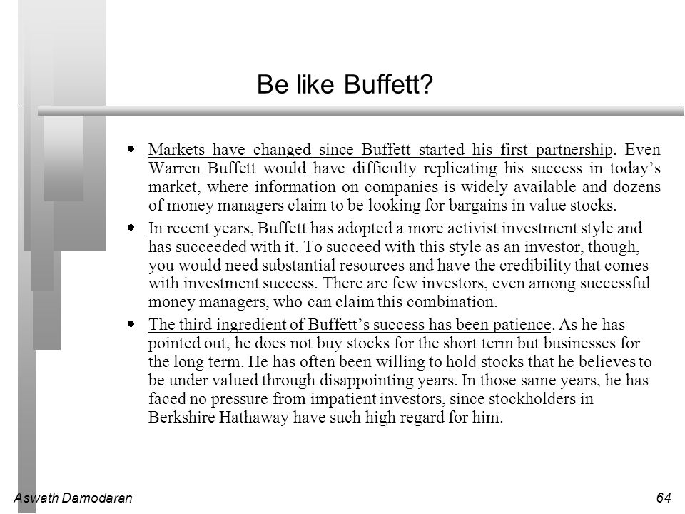 Be like Buffett