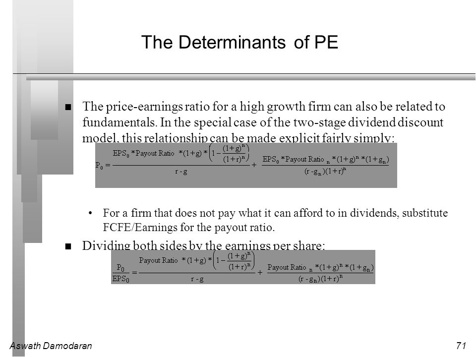 The Determinants of PE
