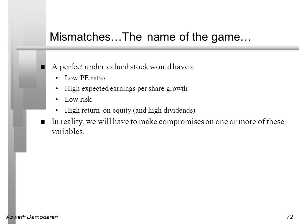 Mismatches…The name of the game…