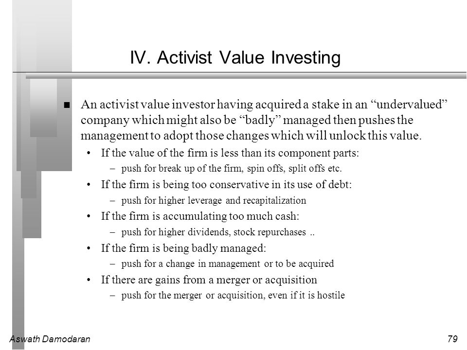 IV. Activist Value Investing
