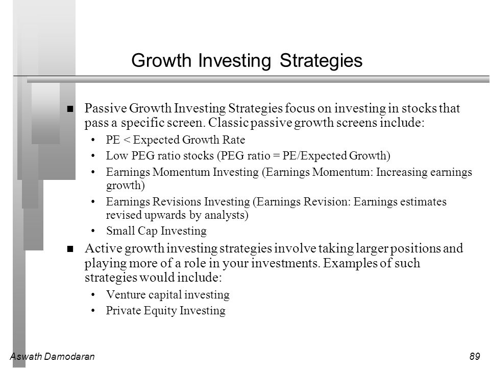 Growth Investing Strategies