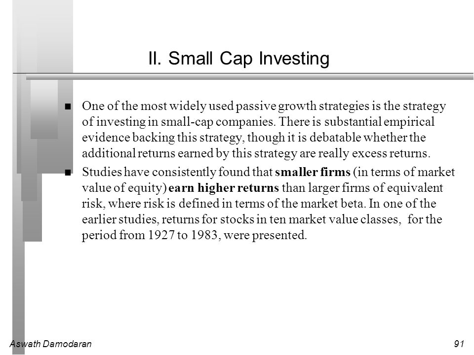 II. Small Cap Investing