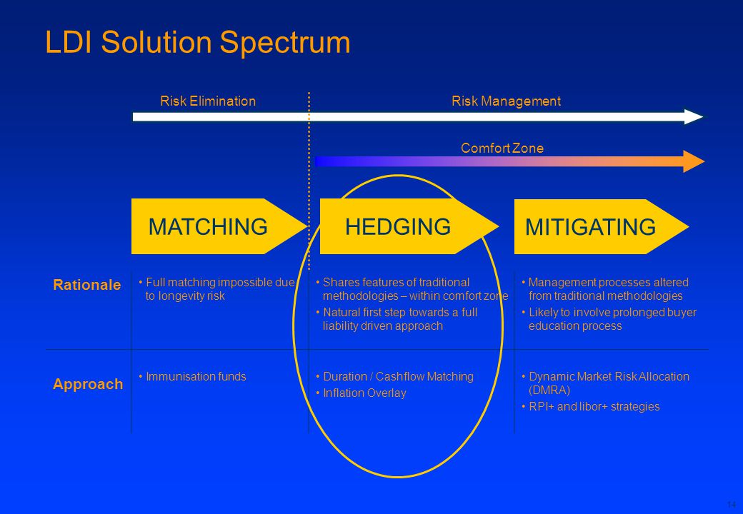 LDI Solution Spectrum MATCHING HEDGING MITIGATING Rationale Approach