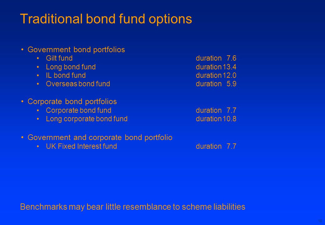 Traditional bond fund options